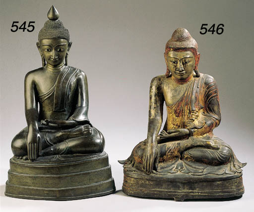 a burmese bronze figure of bud