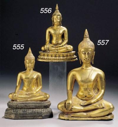 a thai, sukhothai style, gold