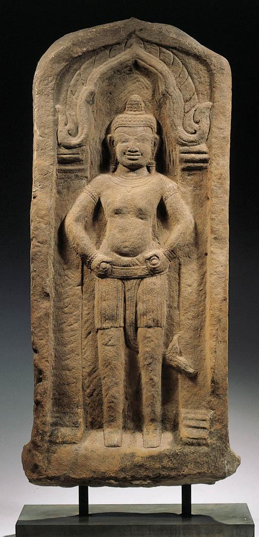 a khmer, bayon style, stele wi