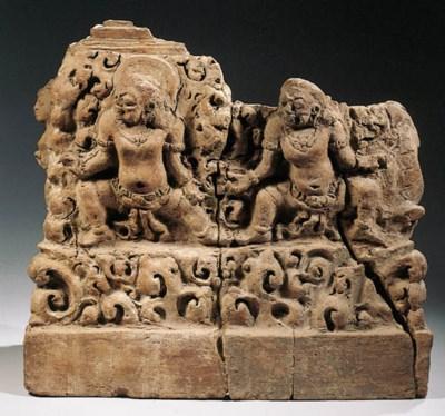two javanese terracotta sectio