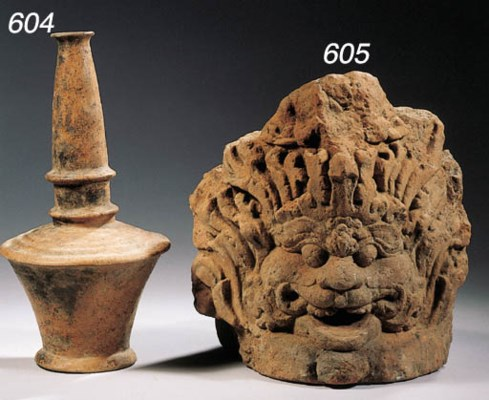 a javanese terracotta vase