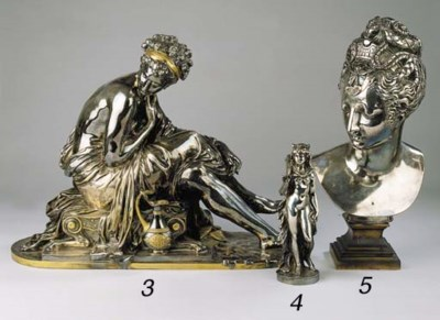 A large parcel silvered bronze