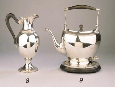 A Dutch silver electric water-
