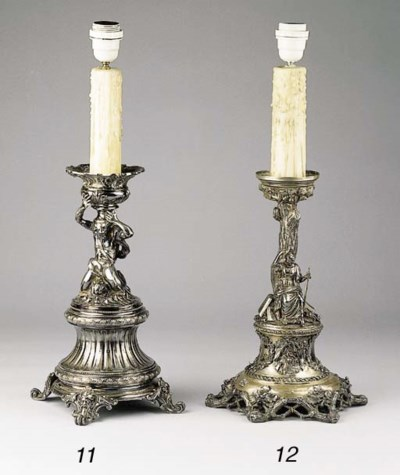 An electric silver candlestick