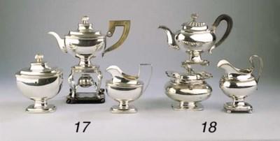 A Dutch silver empire tea-serv