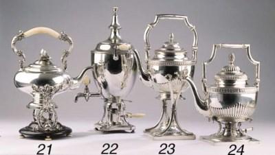 A Russian silver samovar