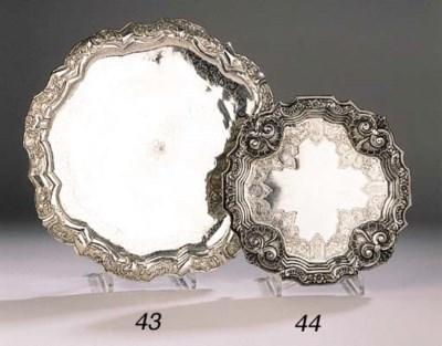 A Portugese silver salver
