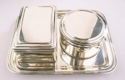 Two Dutch silver biscuitboxes