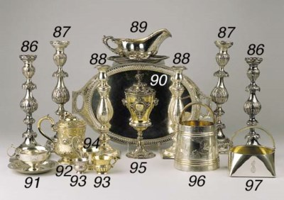 A Russian silver oval tray