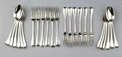 A set of twelve Dutch silver d