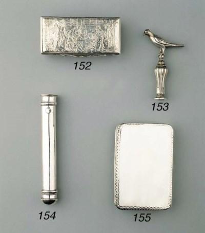 A silver corkscrew
