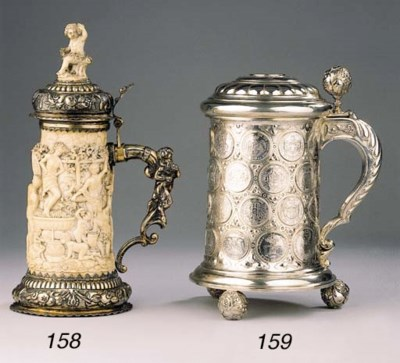 A German ivory and silver-gilt