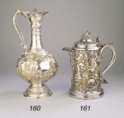 An Irish silver wine jug