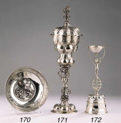 A German silver dish in the Ro