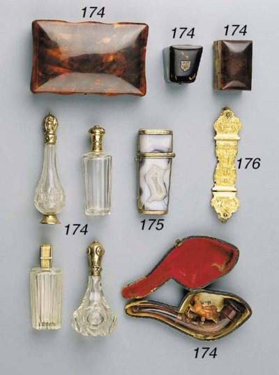 Four Dutch gold-mounted cut-gl