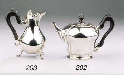 A Dutch silver teapot