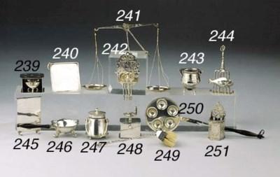 A Dutch silver miniature stool