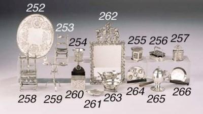 A Dutch silver miniature sulph