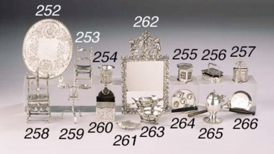 A Dutch silver miniature mirro