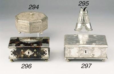 A tortoise-shell silver-mounte