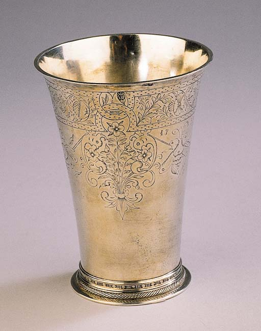 A Russian silver beaker in Dutch style