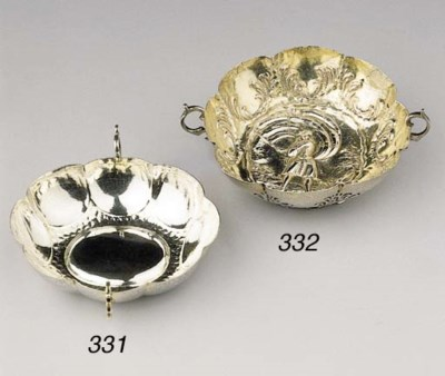 A German silver brandybowl and