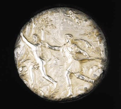 A Dutch silver plaque