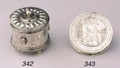 A Dutch silver circular marria