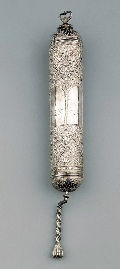 A SILVER SCROLL OF ESTHER CASE