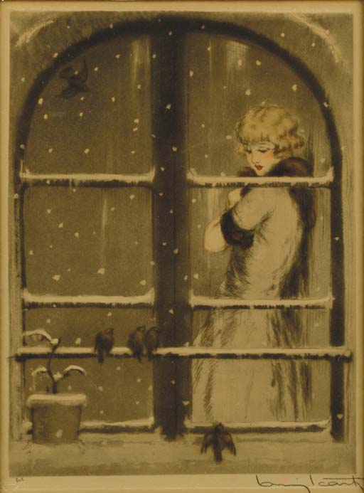 Lady at the window-Winter and