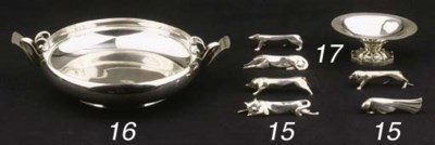 A set of silvered metal knive