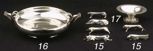 A Danish hammered silver bowl