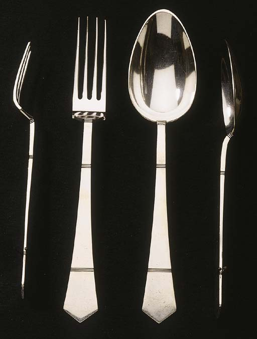 A Dutch silver part flatware s