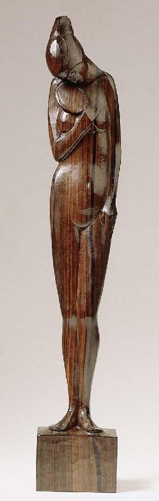 A rosewood figure of a nude wo