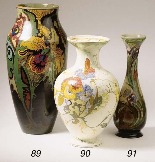 A glazed pottery vase