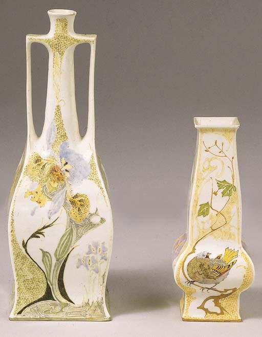 Two egg-shell porcelain vases