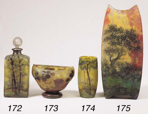 A cameo glass bowl