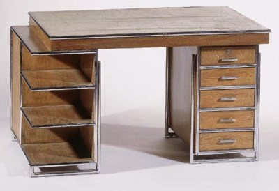 A chromium plated and oak twin