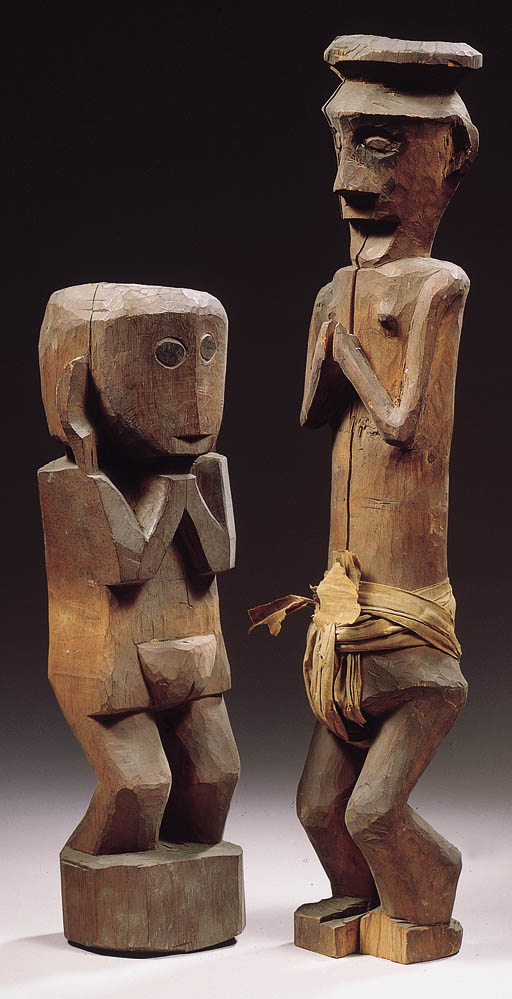 TWO NORTH NIAS FIGURES