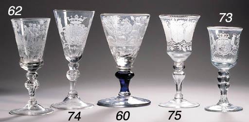 A Bohemian-engraved goblet
