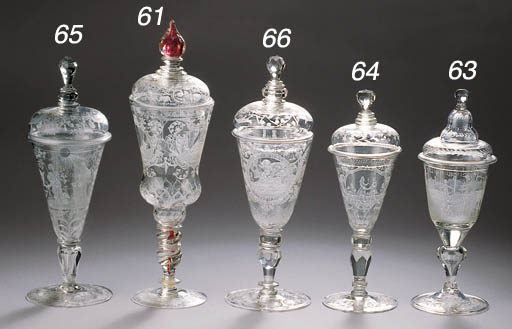 A Silesian-engraved goblet and