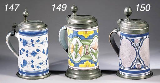 A Magdeburg fayence pewter-mou