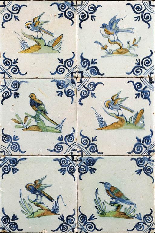 A Dutch ornithological tile pa