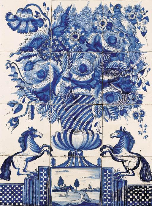 A Frisian blue and white flora