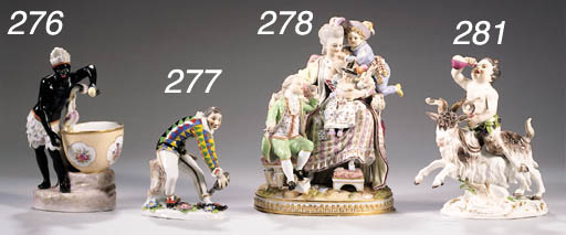 A Meissen group of the good mo