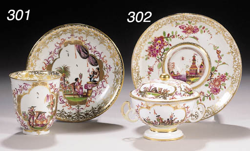 An early Meissen chinoiserie c