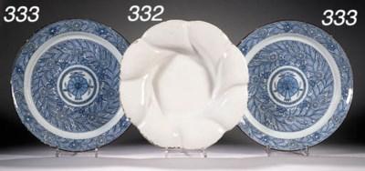 A white Delft spirally lobed c
