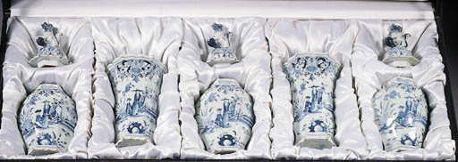 A Dutch Delft blue and white h