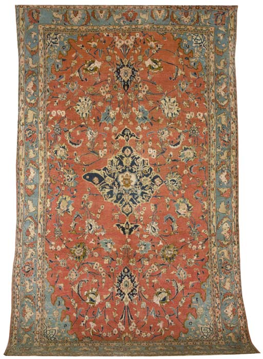 A part silk Sarouk carpet