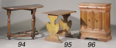 An Italian walnut side-table